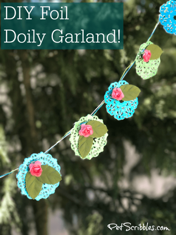 How to make a lovely foil doily garland!