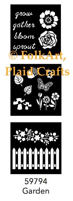 FolkArt Mini Garden Stencils