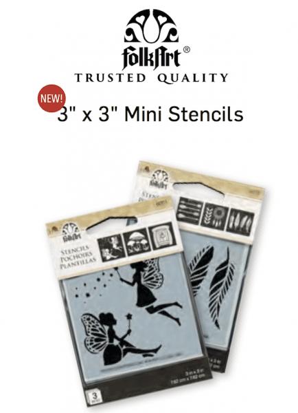 FolkArt Mini Stencils