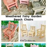 How to make weathered fairy garden beach chairs
