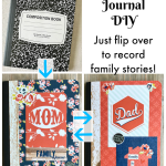 Record family memories in this beautiful DIY Mom and Dad Journal!