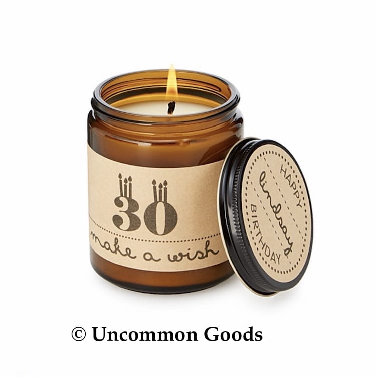 Uncommon Goods Personalized Birthday Candle