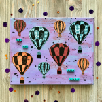 Hot Air Balloon Mixed Media Canvas