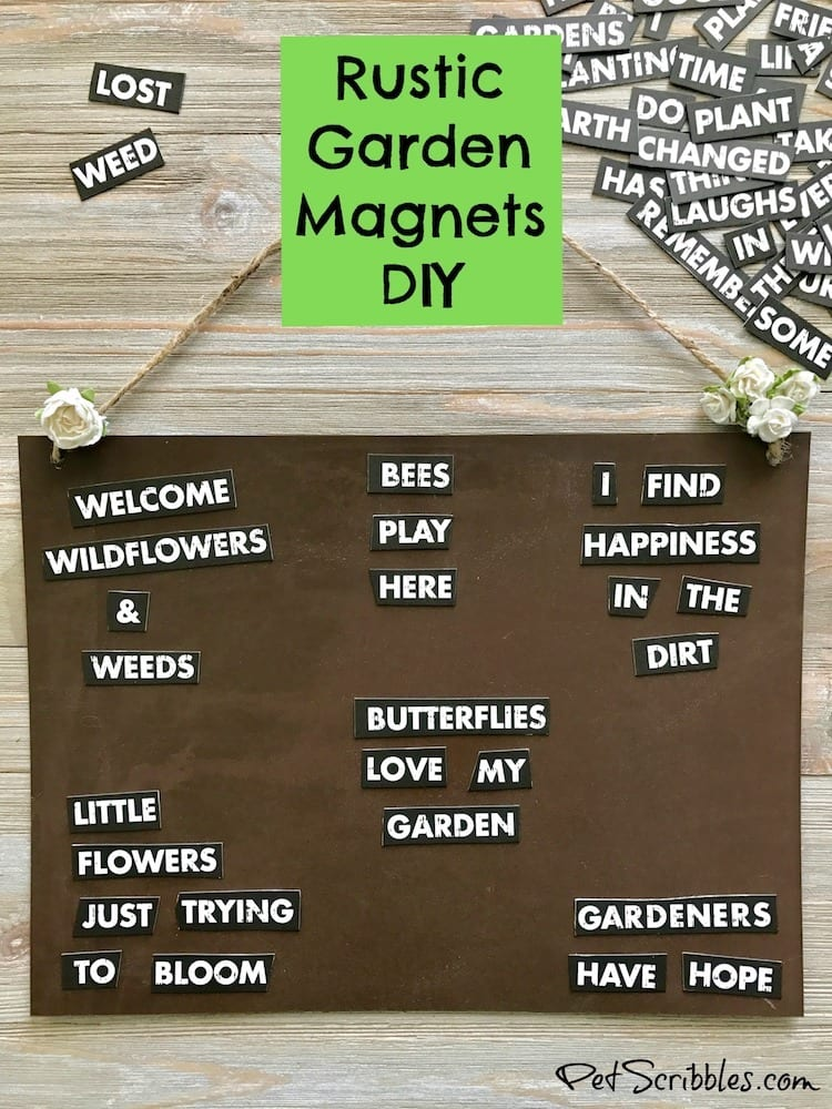 How to Make Rustic Garden Word Magnets
