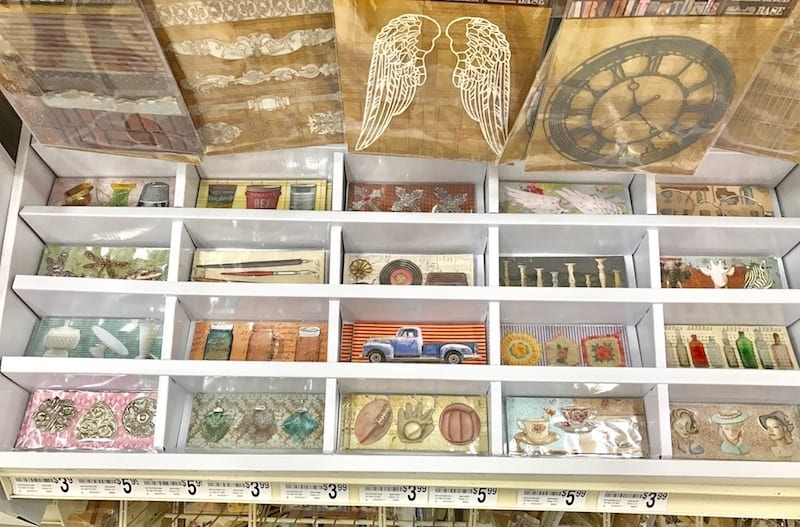 7gypsies Architextures Findings Trinkets display at Michaels