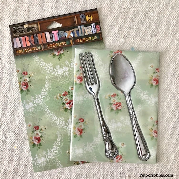 Architextures Treasures Fork and Spoon -- perfect for DIY Kitchen Art!