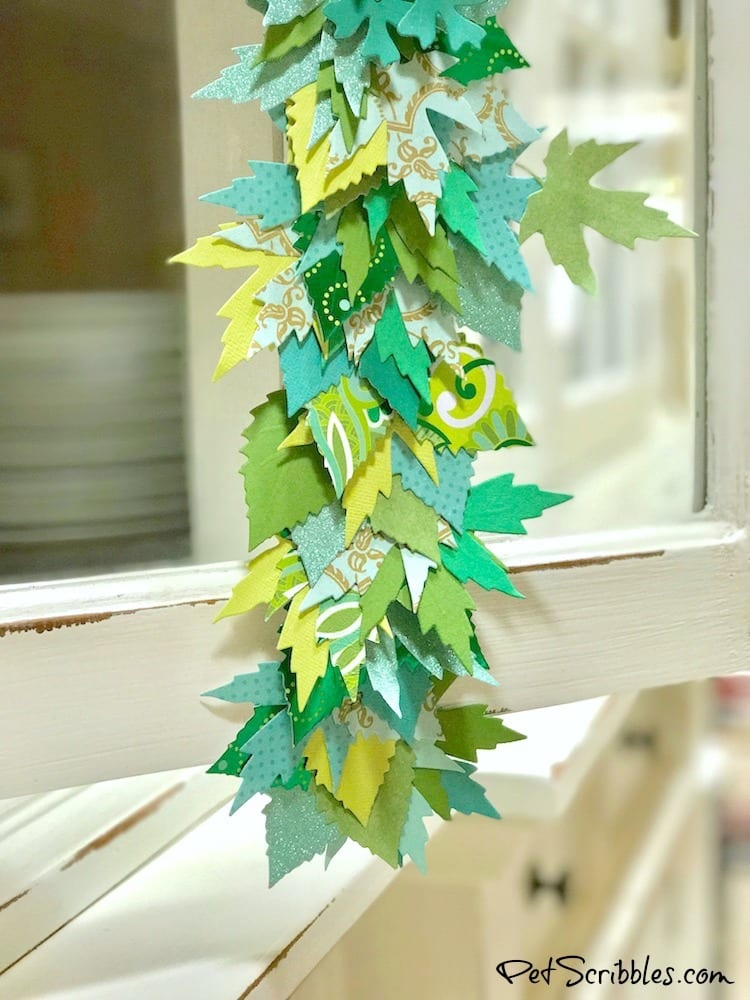How to make a beautiful paper leaf garland!