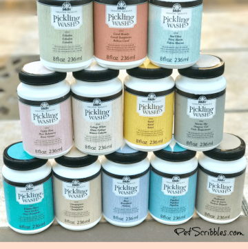 I love FolkArt's Pickling Wash collection!