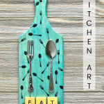 Fork and Spoon Kitchen Art