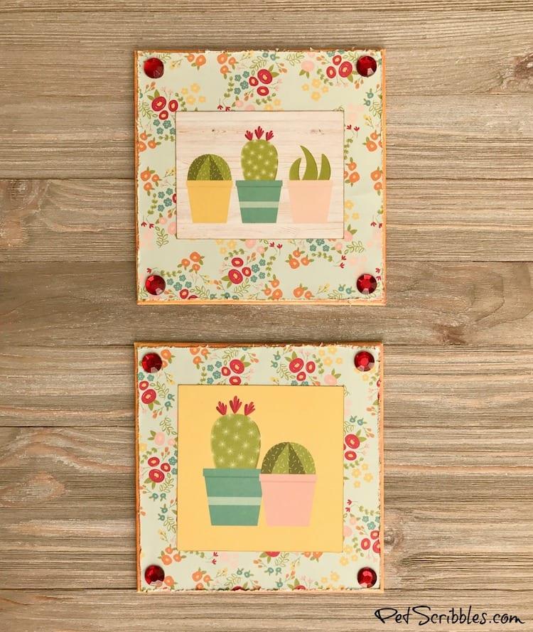 How to create Summer Succulent Cactus Shelf Art