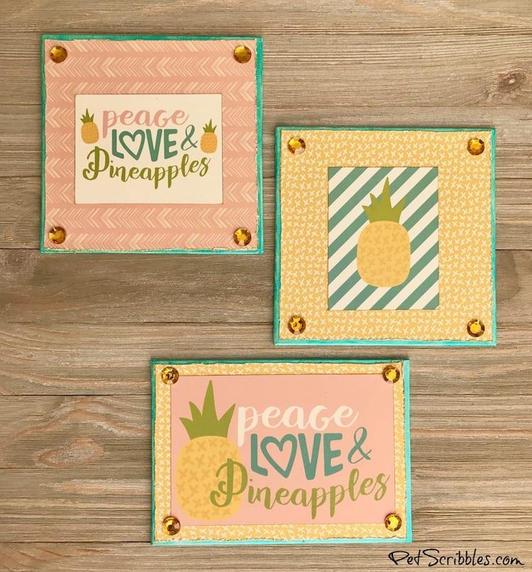 How to create charming Summer Pineapple Shelf Art