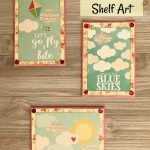 How to create charming Summer Shelf Art