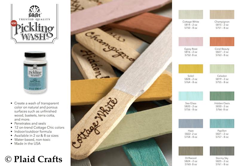 Plaid Crafts FolkArt Pickling Wash Color Chart