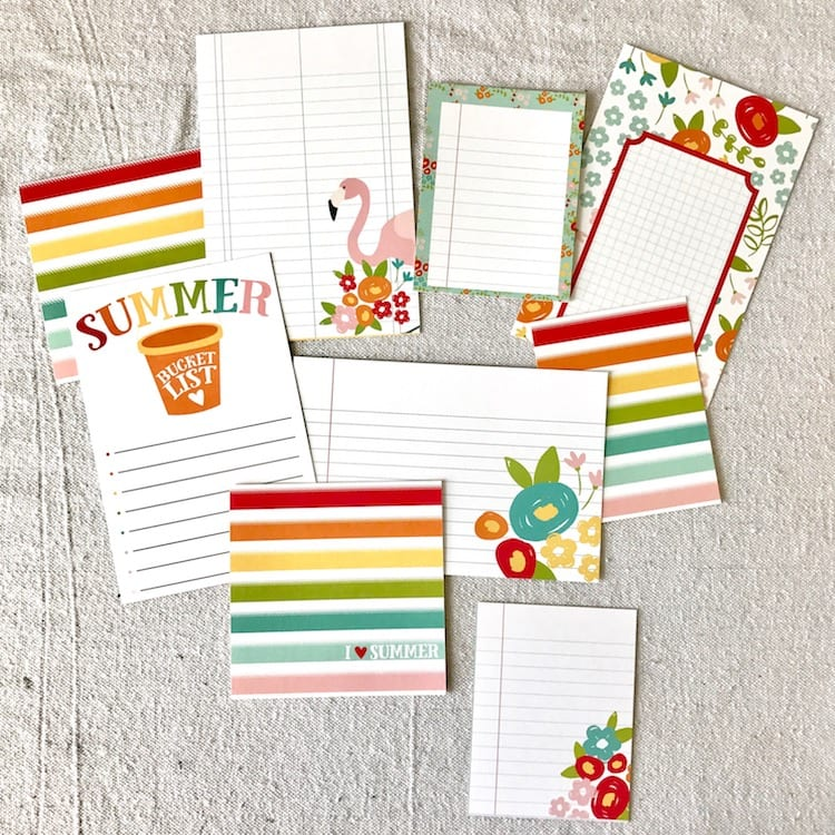 Simple Stories Summer Days Journaling Cards