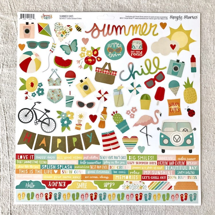 Simple Stories Summer Days Stickers