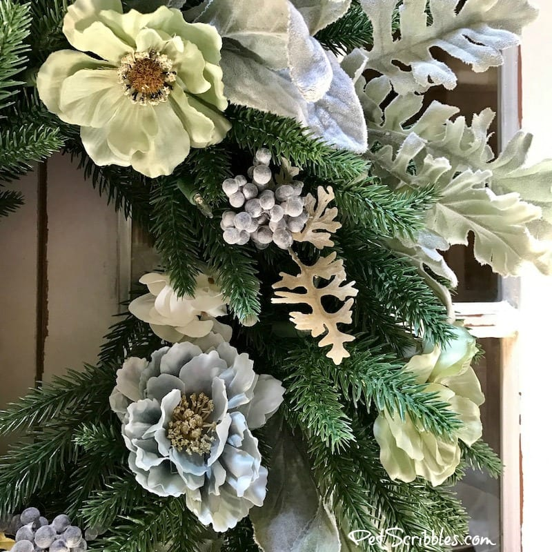 How to make a Beautiful Summer Wreath from a Christmas Wreath!