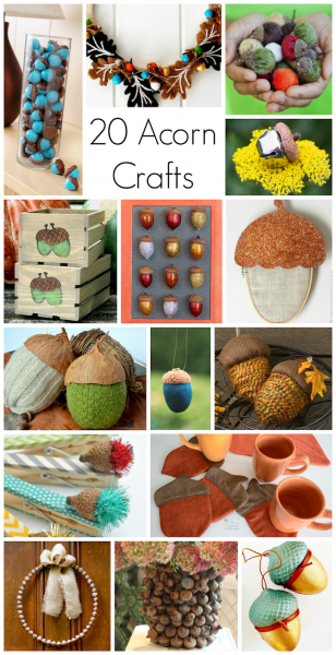Acorn Crafts: 20 DIYs you will love!
