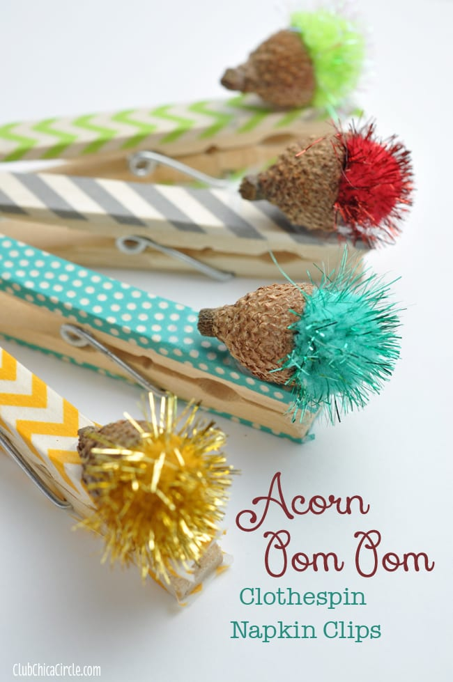 Acorn Clothespin Napkin Clips by Club Chica Circle