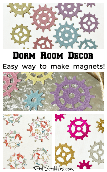 Dorm Room Decor: an easy way to make pretty magnets!