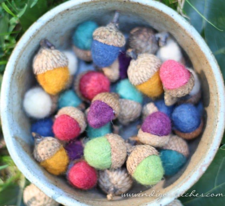DIY Felted Acorns by Black Walnut Stitch Studio