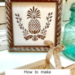 Rustic Farmhouse Pineapple Art