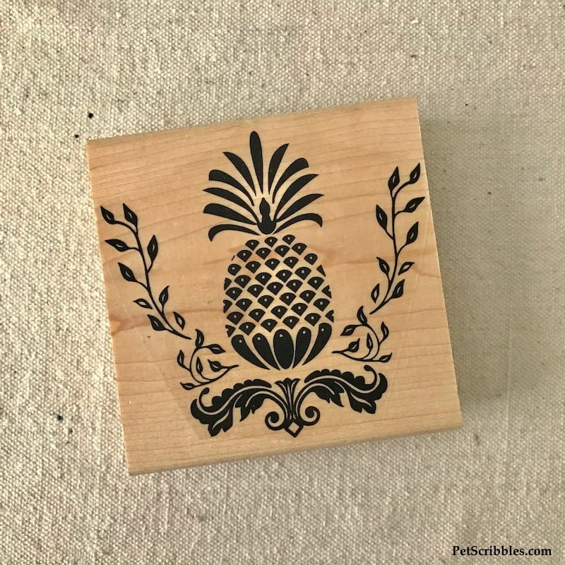 This Victorian Pineapple Stamp is the perfect way to create Rustic Farmhouse Pineapple Art!