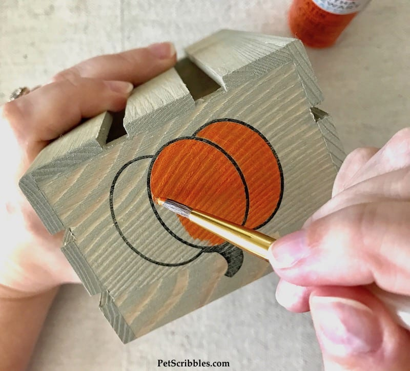 How to make rustic Fall crates using stamps!