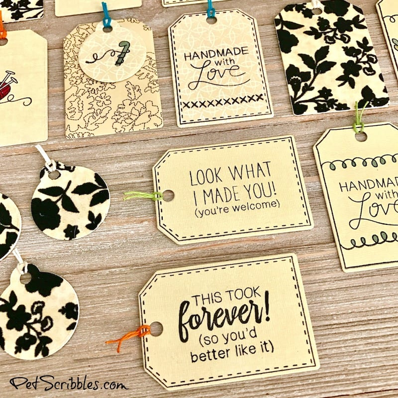 DIY Tags for Handmade Gifts or Weddings Favors, or even handmade products you sell!