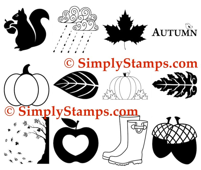 Fall Rubber Stamps by Simply Stamps