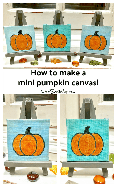How to Make a Beautiful Miniature Pumpkin Canvas!