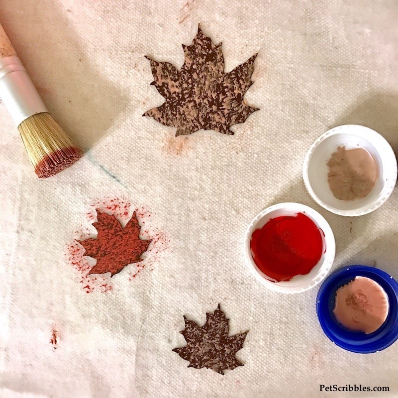 How to make a Fall Mixed Media Leaf Canvas you'll love!