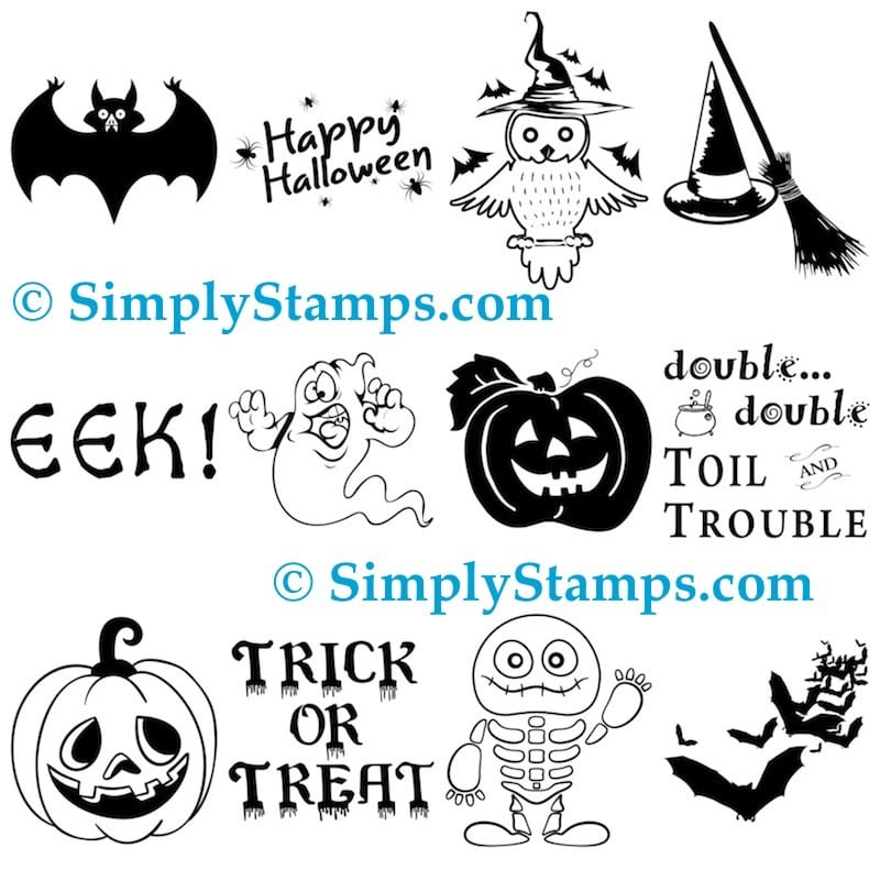 Halloween Craft Stamps by Simply Stamps