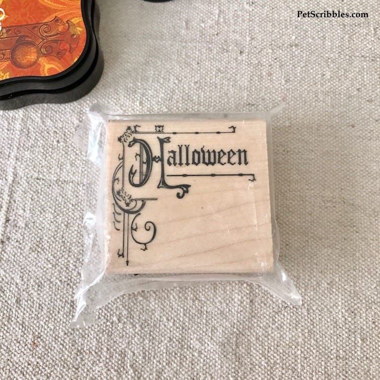 Halloween Ornamental Sign Craft Stamp from SimplyStamps.com