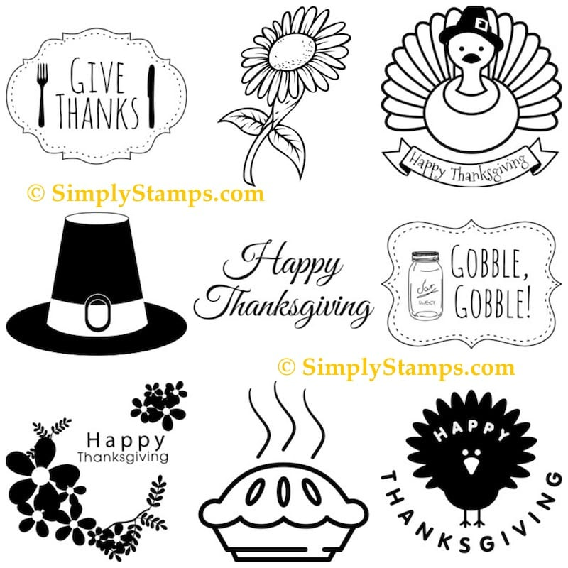 Thanksgiving Rubber Stamps from Simply Stamps