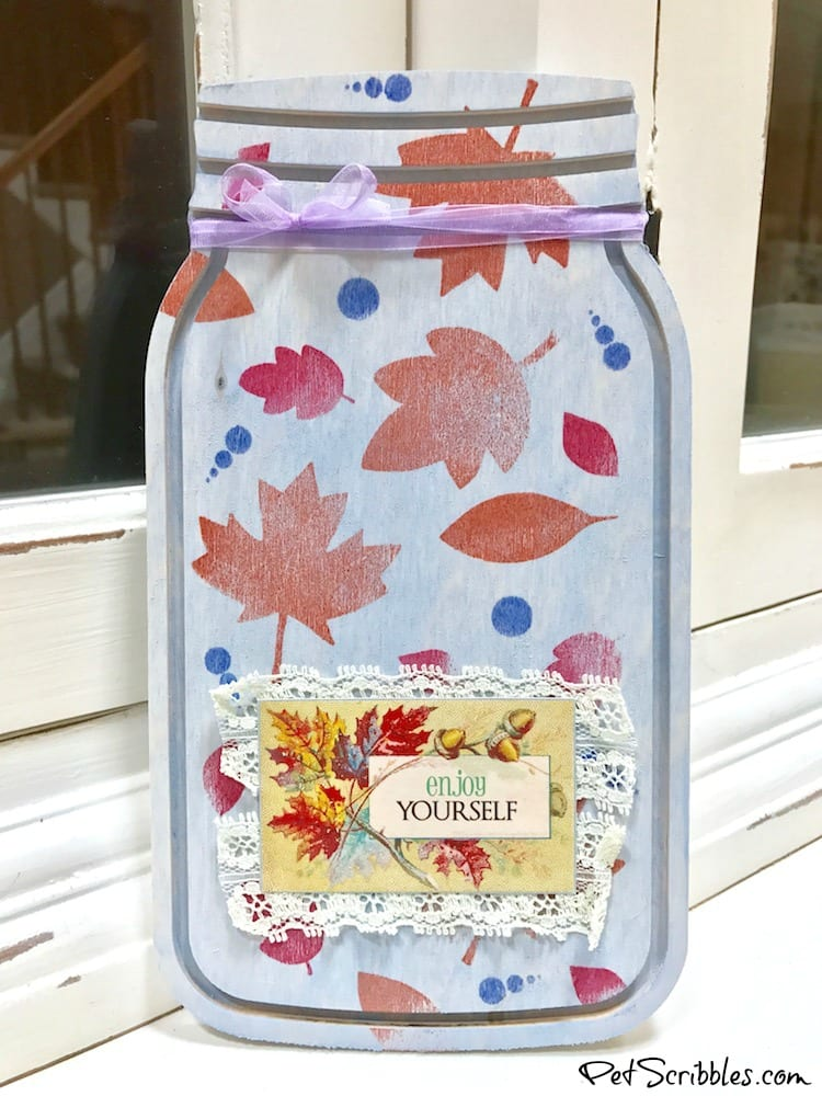 A Pretty Mason Jar Sign for Thanksgiving!
