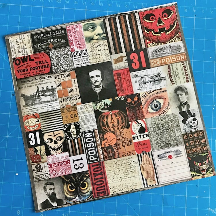 Tim Holtz Halloween ephemera page