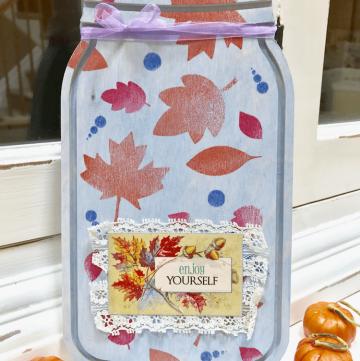 A Pretty Mason Jar Sign for Thanksgiving!