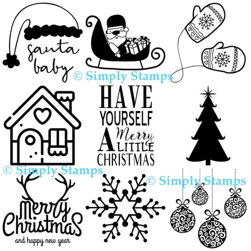 Christmas Stamps from Simply Stamps