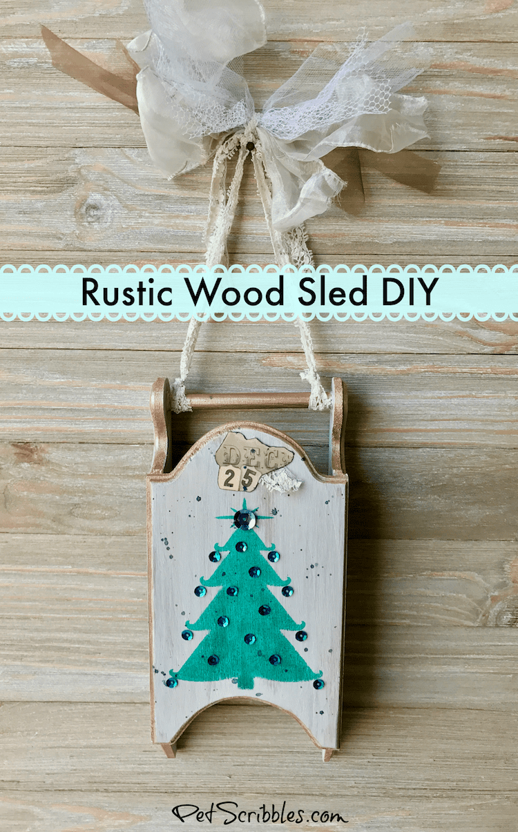 How to Create a Beautiful Rustic Wood Sled