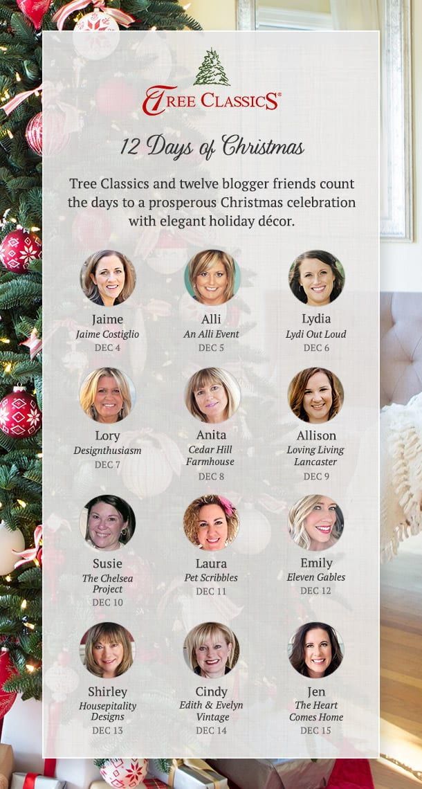 12 Days of Christmas Blog Hop with Tree Classics Favorite Home Decor Bloggers!