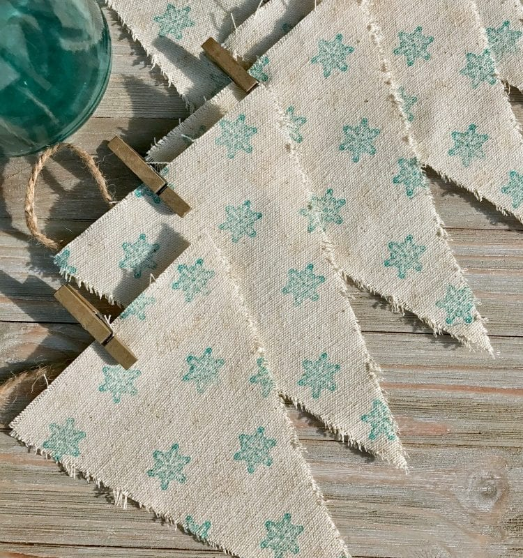 DIY farmhouse snowflake banner
