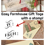 Easy Farmhouse Gift Tags with a stamp!