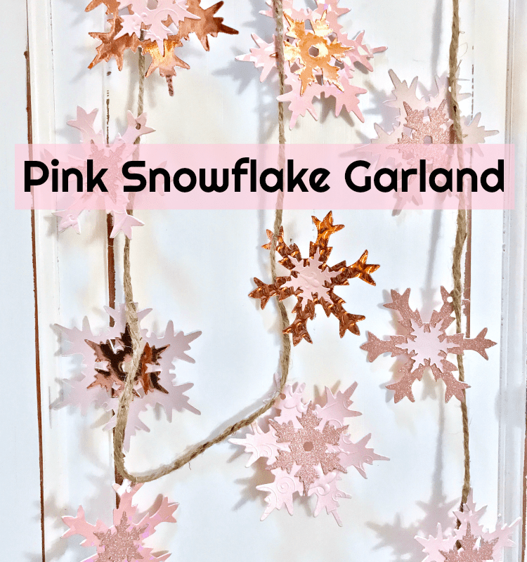 How to Make a Sparkling Pink Snowflake Garland