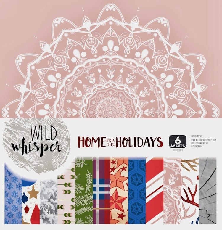 Wild Whisper Home for the Holidays 12 x 12 paper