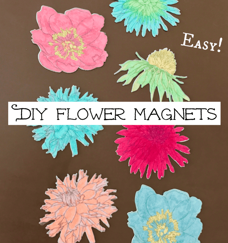 How to make and color your own flower magnets!