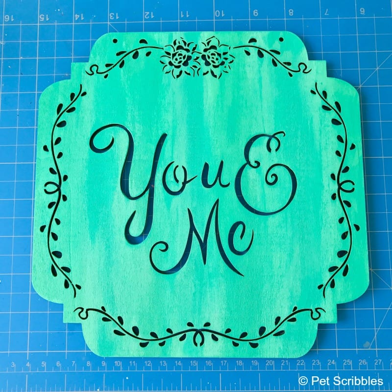 You and Me Sign: Easy How To Dry Brush Tutorial