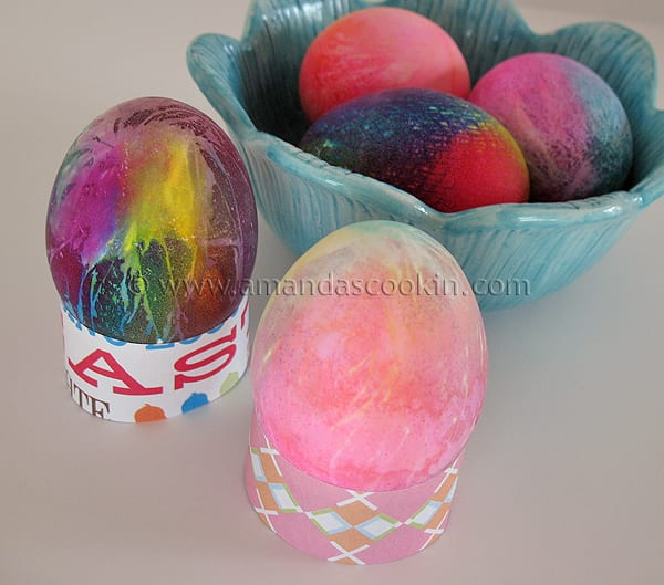 Tie Dye Easter Eggs from Amanda's Cookin'
