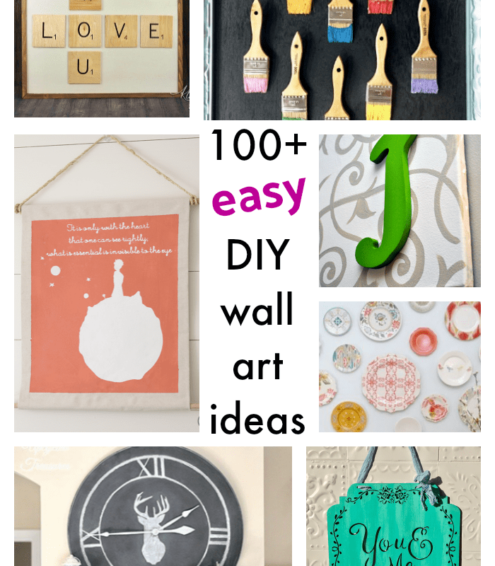 100 Easy DIY Wall Art Projects You Will Love