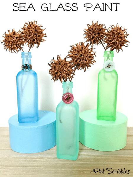 Sea Glass Paint: how to easily create beautiful beach glass