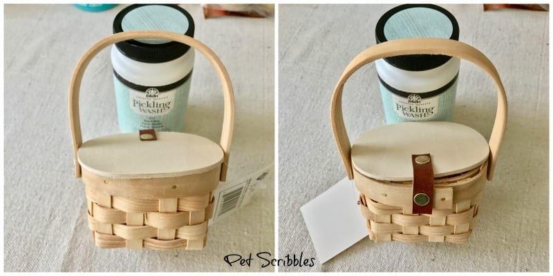 Make A Pretty Mini Picnic Basket Favor!
